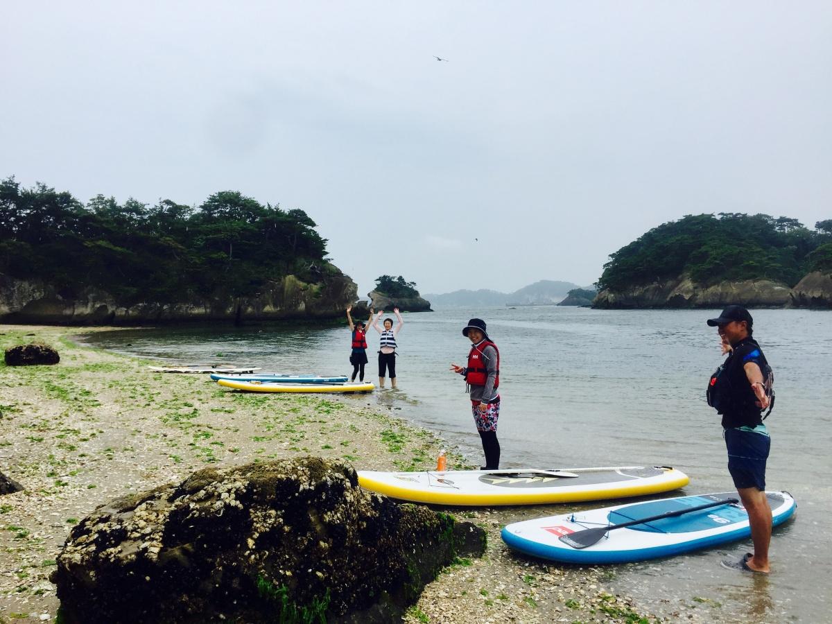 雨の奥松島SUP