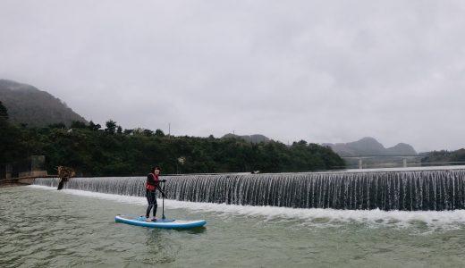 秋の七ヶ宿湖SUP