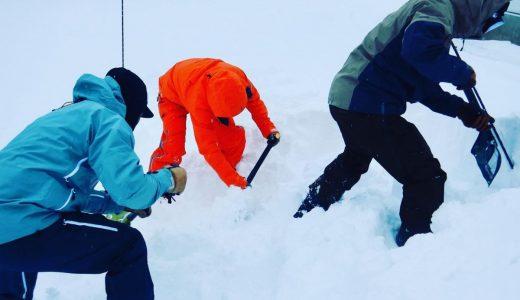 BC雪崩講習&セルフレスキュー